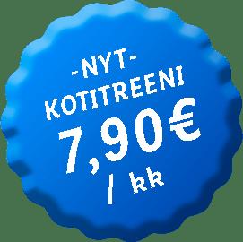 Keventäjät Kotitreeni - Tutustumishintaan 7,90€/kk